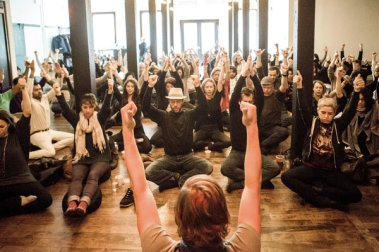 (From the article:) Few meditation studios have capitalized on mindful networking more than the Path, which has emerged as a downtown hub for technology and fashion entrepreneurs. The Monday sessions tend to be jammed, and attendees are encouraged to drink tea and mingle after class. Credit